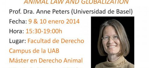 Anne Peters en el Máster en Derecho Animal y Sociedad de la UAB: Animal Law and Globalization