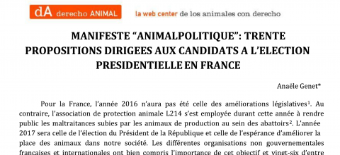 "Manifiesto ""AnimalPolitique"""