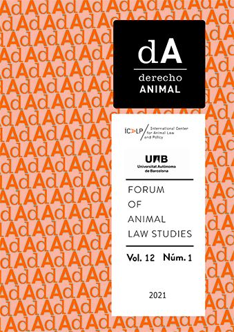 El ICALP publica el vol. 12/1 (2021) de dA. Derecho Animal (Forum of Animal Law Studies)