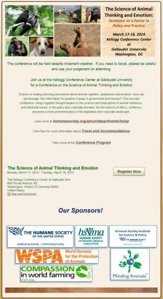 Congreso: The Science of Animal Thinking and Emotion